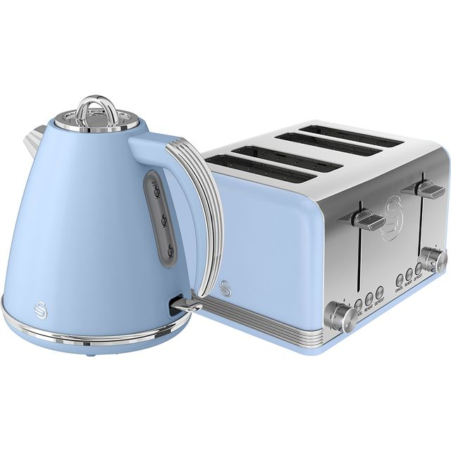 Swan Retro STP7041BLN Kettle And Toaster Sets - Blue - STP7041BLN_BL - 1