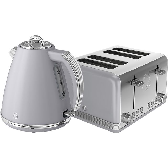 Swan Retro STP7041GRN Kettle And Toaster Sets - Grey
