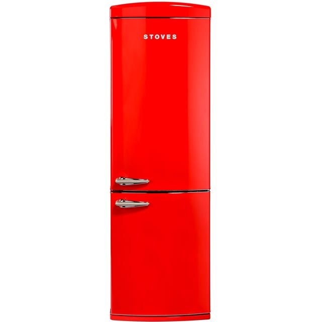 Stoves Retro STR 60197R 70/30 Frost Free Fridge Freezer - Red - A+ Rated - STR 60197R_RD - 1