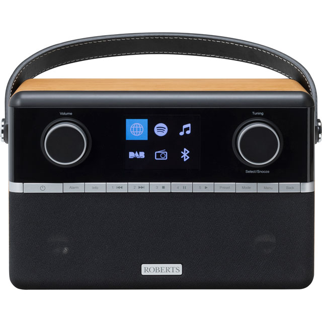 Roberts Radio STREAM94I DAB / DAB+ Digital Radio with FM / AM Tuner - Black - STREAM94I - 1