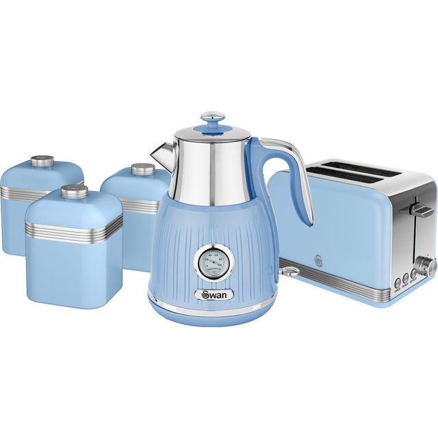 Swan Retro STRP3021BLN Kettle And Toaster Set - Blue