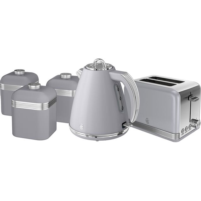 Swan Retro STRP3022GRN Kettle And Toaster Set - Grey