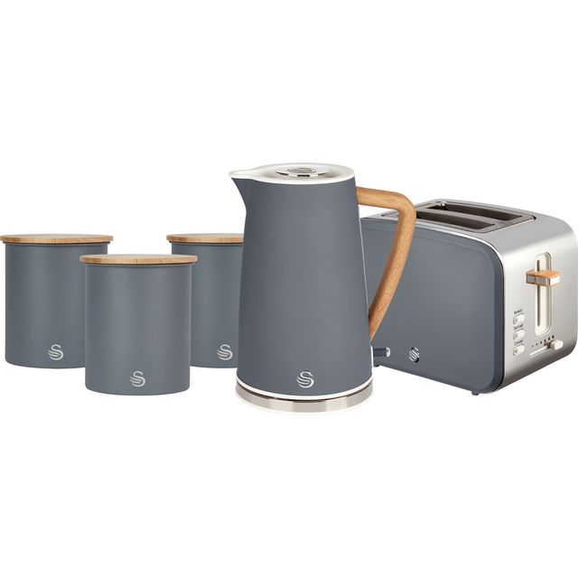 Swan Nordic STRP3025GRYN Kettle And Toaster Set - Grey
