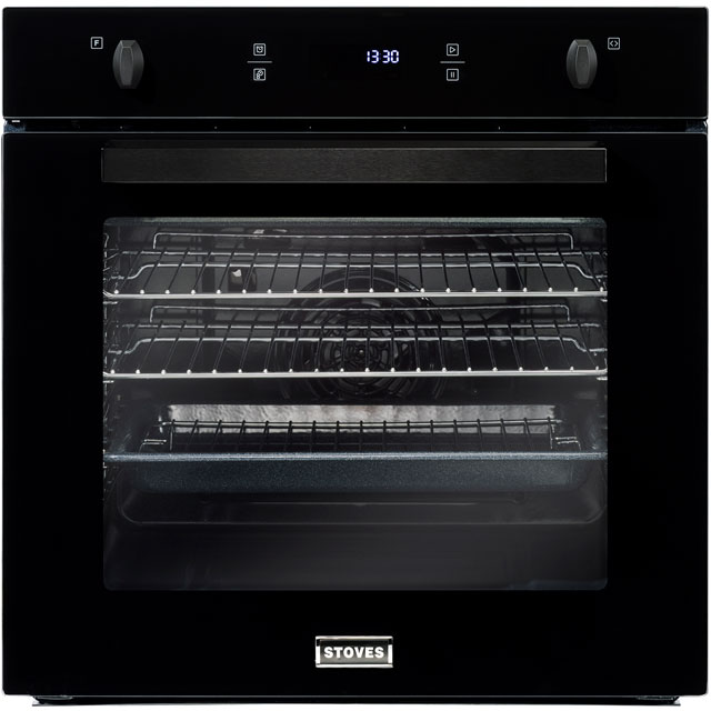 Stoves SEB602F Built In Electric Single Oven - Black - A Rated - SEB602F_BK - 1