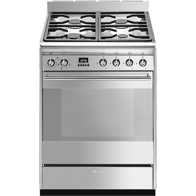 Smeg Concert SUK61MX9 60cm Dual Fuel Cooker - Stainless Steel - A Rated - SUK61MX9_SS - 1