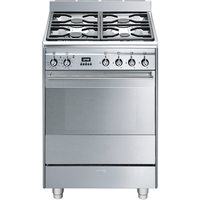 Smeg Concert SUK61PX8 Dual Fuel Cooker - Stainless Steel - A Rated