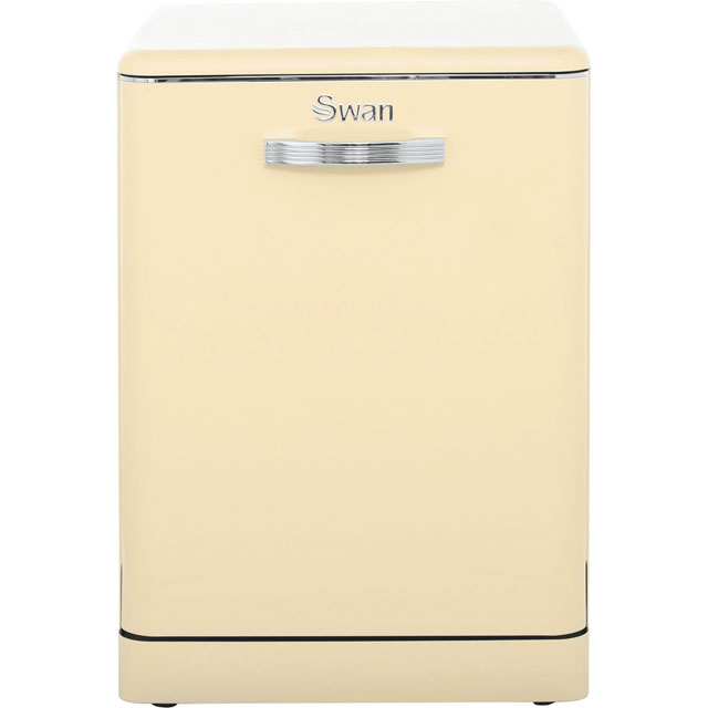 Swan Retro SDW7040CN Standard Dishwasher - Cream - A+ Rated - SDW7040CN_CR - 1