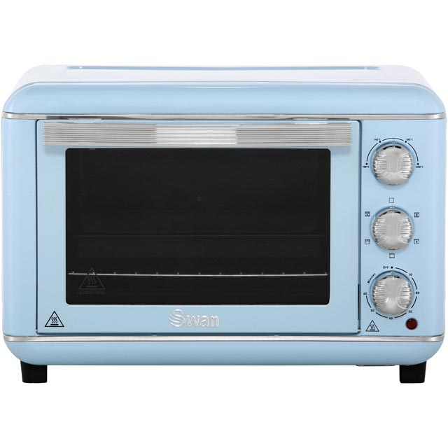 Swan Retro SF37010BLN Mini Oven & Rotisserie - Blue - SF37010BLN_BL - 1