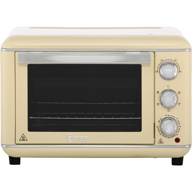 Swan Retro SF37010CN Mini Oven & Rotisserie - Cream - SF37010CN_CR - 1