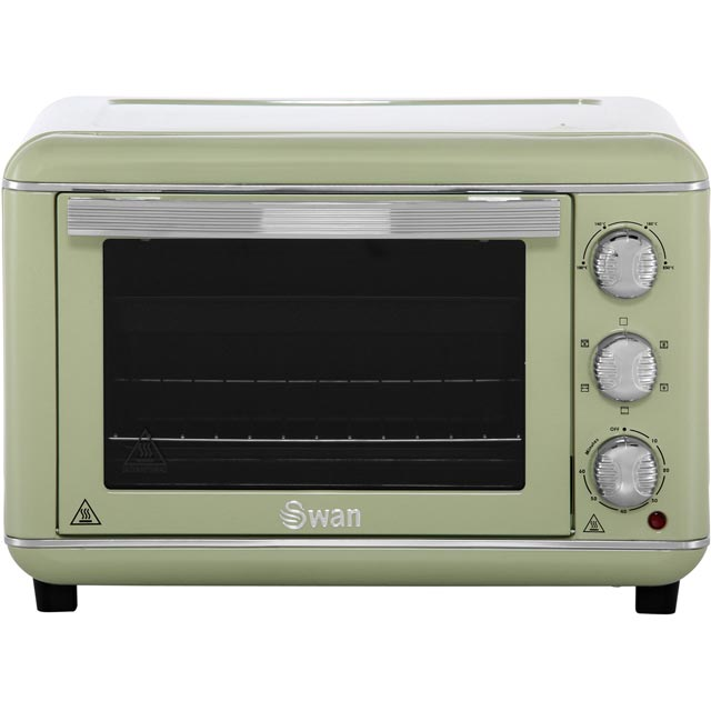 Swan Retro SF37010GN Mini Oven & Rotisserie - Green - SF37010GN_GR - 1