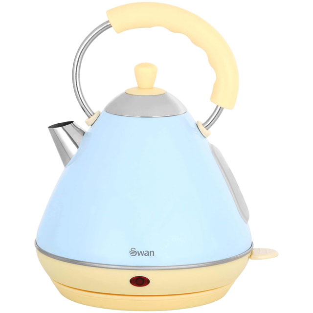 Swan Retro Pyramid SK261030BLN Kettle - Blue