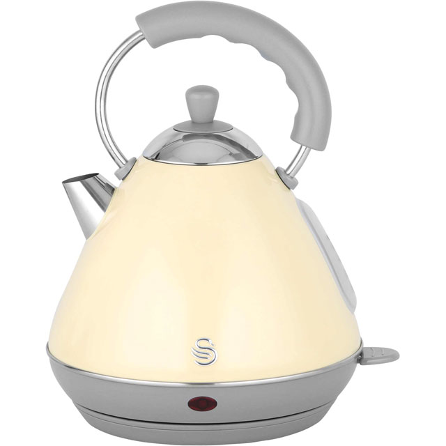Swan Retro Pyramid SK261030CN Kettle - Cream