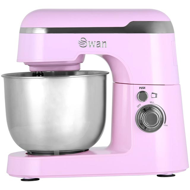 Swan Retro SP25010PN Stand Mixer with 4.2 Litre Bowl - Pink