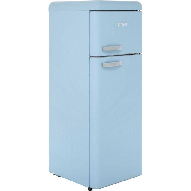 Swan SR11010BLN Retro Tall Fridge Freezer - Blue