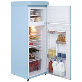 Swan Retro SR11010ON 70/30 Fridge Freezer - Orange - SR11010ON_OR - 3