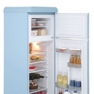Swan Retro SR11010ON 70/30 Fridge Freezer - Orange - SR11010ON_OR - 4