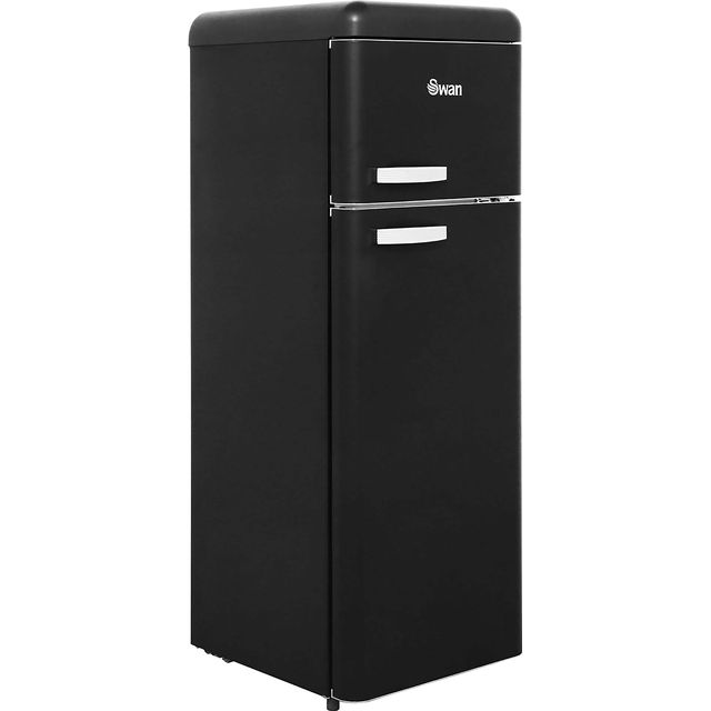 Swan Retro SR11010BN 80/20 Fridge Freezer - Black - A+ Rated - SR11010BN_BK - 1