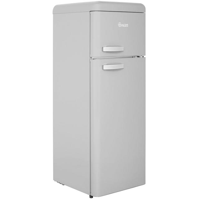 Swan Retro SR11010GRN Fridge Freezer - Grey - SR11010GRN_GR - 1