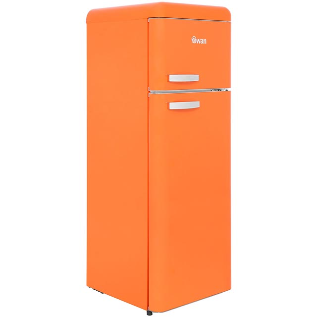 Swan Retro SR11010ON 70/30 Fridge Freezer - Orange - SR11010ON_OR - 1