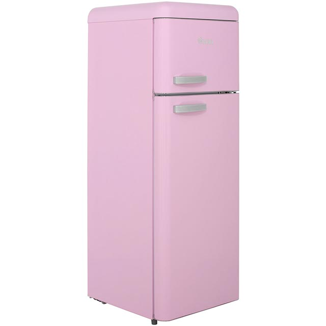 Swan Retro SR11010PN 20/80 Fridge Freezer - Pink - A+ Rated - SR11010PN_PK - 1