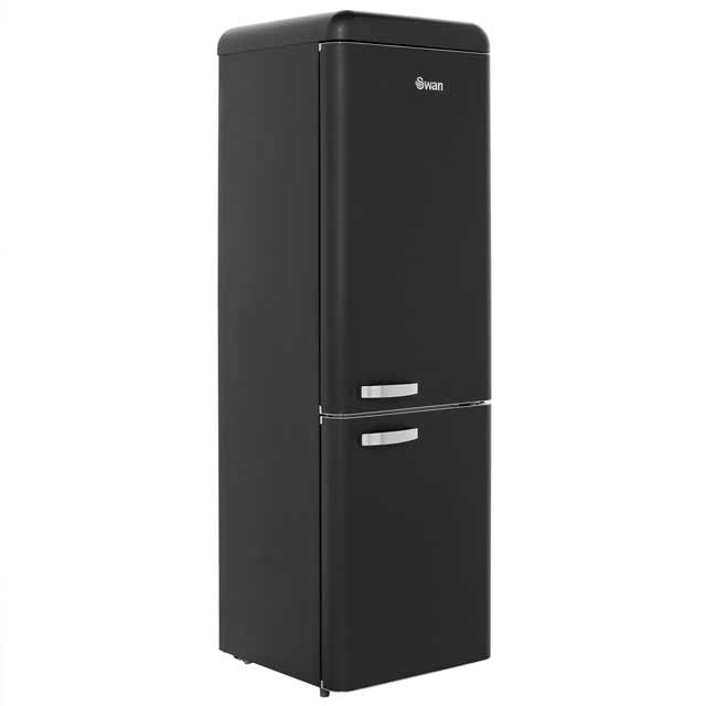 Swan Retro 70/30 Fridge Freezer - Black - A+ Rated