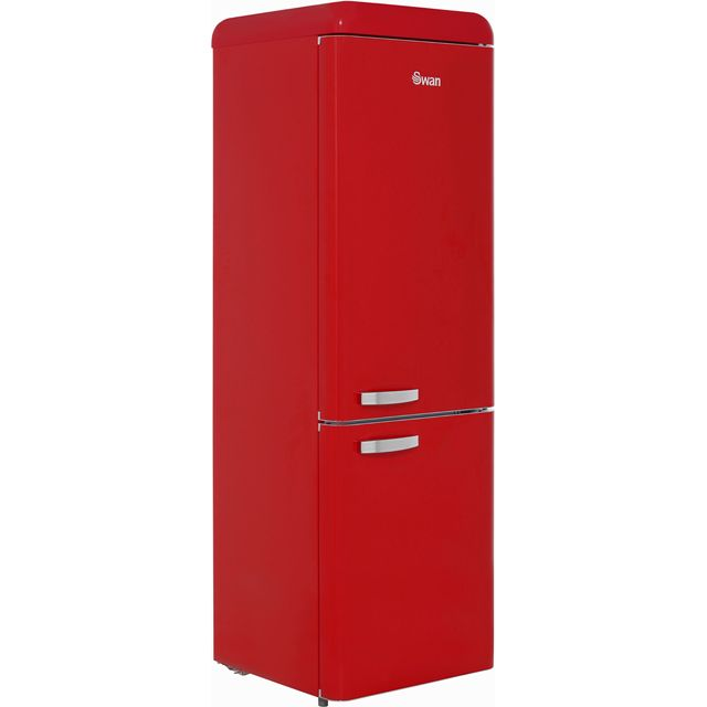 Swan Retro SR11020RN 70/30 Fridge Freezer - Red - A+ Rated - SR11020RN_RD - 1