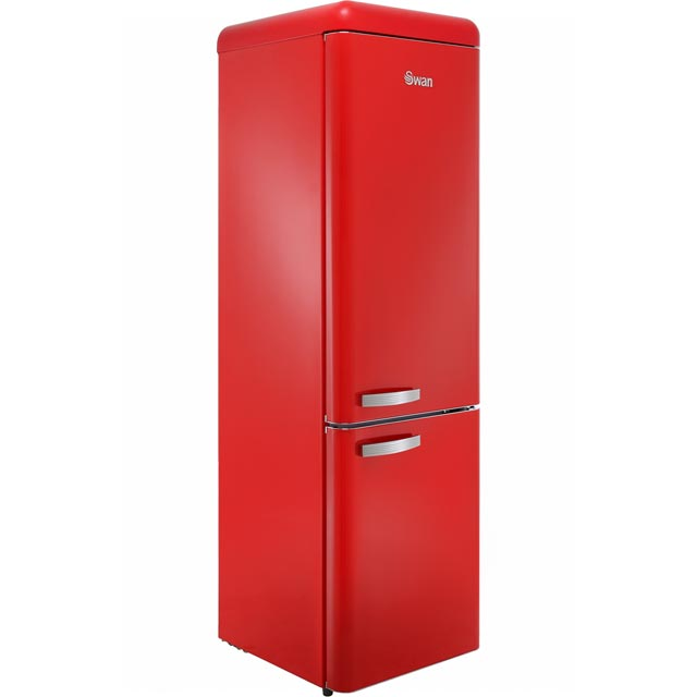 Swan Retro Slimline SR11025RN 70/30 Fridge Freezer - Red - A+ Rated - SR11025RN_RD - 1