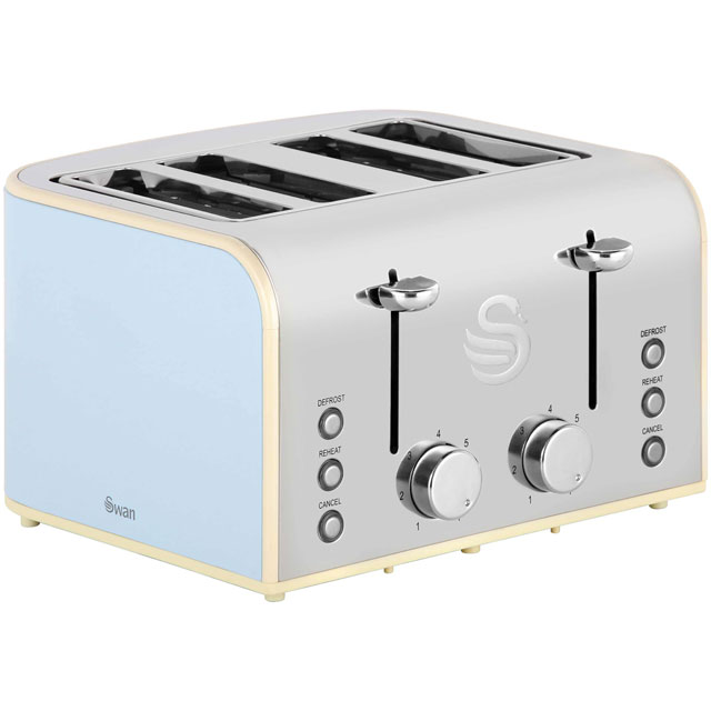 Product image for Swan Retro ST17010BLN 4 Slice Toaster - Blue