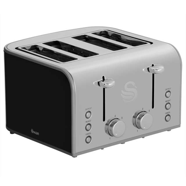 Swan Retro ST17010BN 4 Slice Toaster - Black