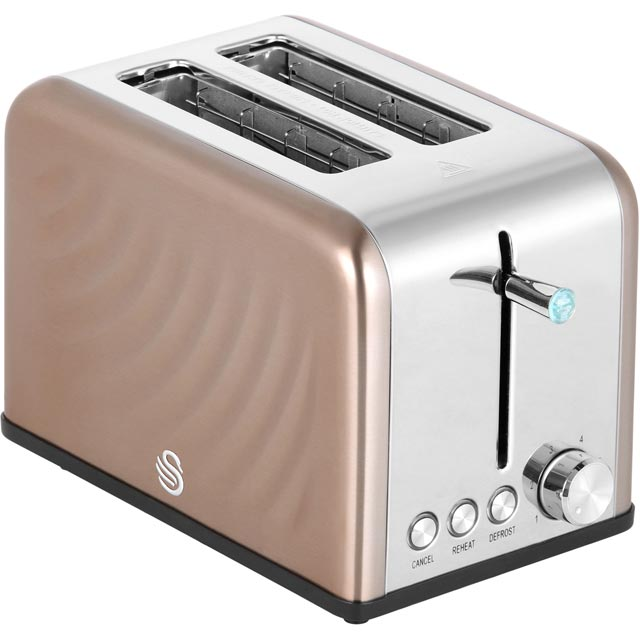 Swan 2 Slice Toaster - Copper
