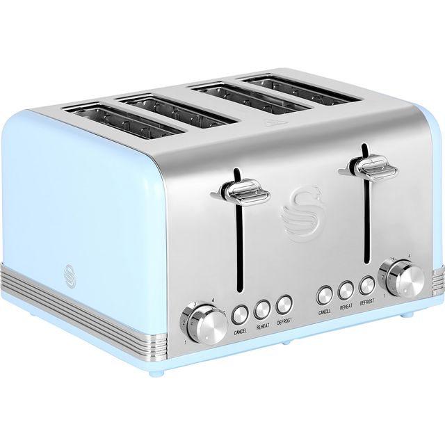 Swan Retro 4 Slice Toaster - Blue