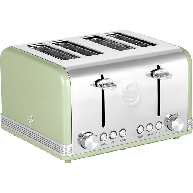 Swan Retro 4 Slice Toaster - Green