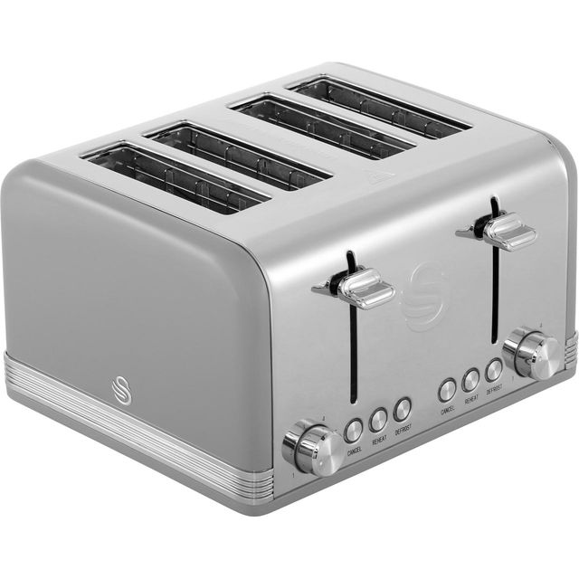 Swan Retro 4 Slice Toaster - Grey
