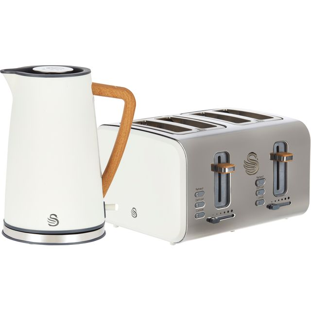 Swan Nordic STP2091WHTN Kettle And Toaster Sets - White - STP2091WHTN_WH - 1