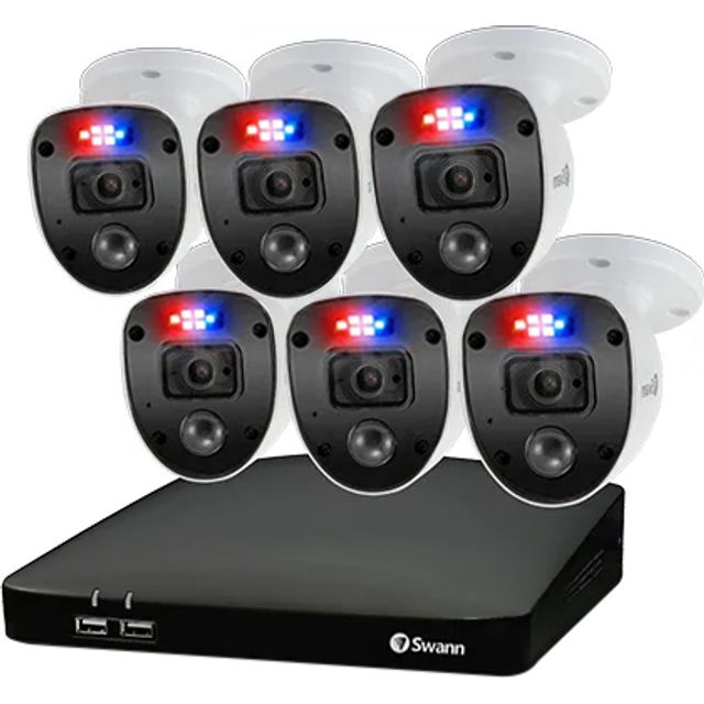 Swann Enforcer 6 Camera 8 Channel DVR Security System Full HD 1080p - White