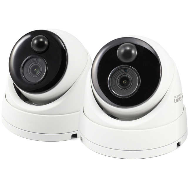 Swann Thermal Sensor Outdoor Security Camera 2 Pack Full HD 1080p - White