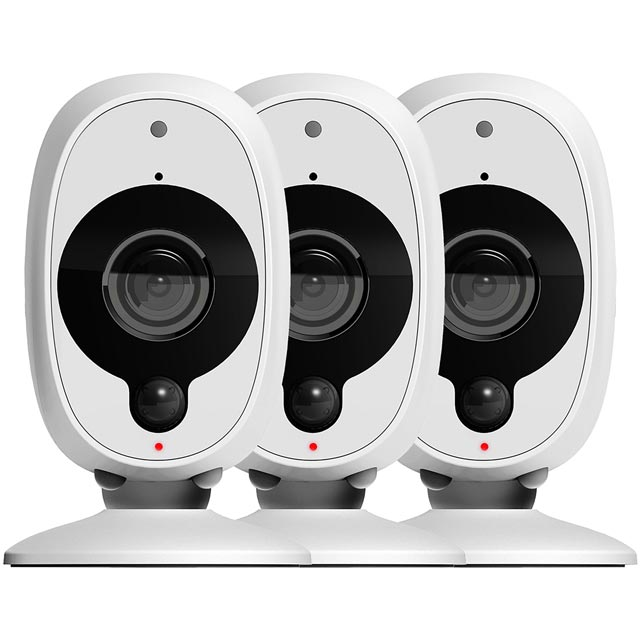 Swann Smart Security Camera (3 Pack) - White - SWWHD-INTCAM3PK-UK - 1