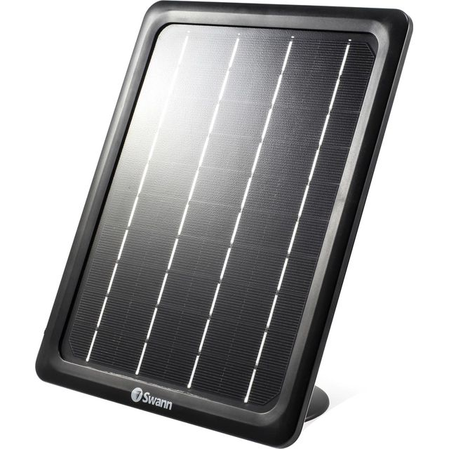 Swann Solar Panel for Smart Security Camera SWWHD-INTSOL-GL Smart Home Security Camera in Black