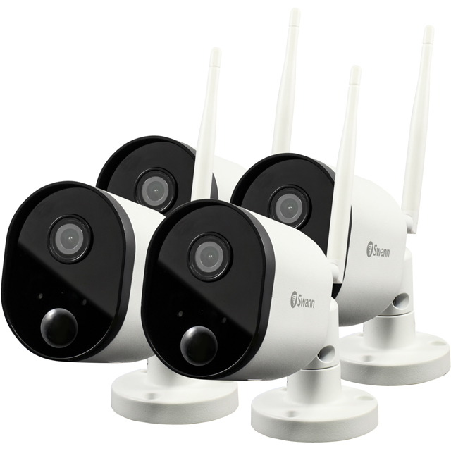 Swann Wi-Fi Outdoor Security Camera (4 Pack) Full HD 1080p - White