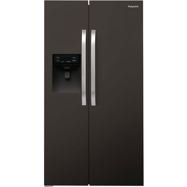 Hotpoint Day 1 SXBHE925WD American Fridge Freezer - Black - A+ Rated Best Price, Cheapest Prices