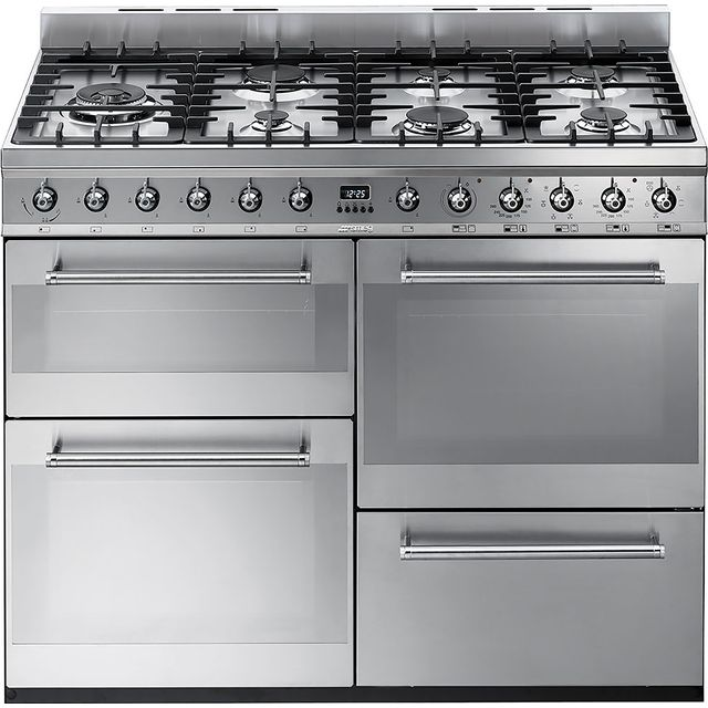 Smeg Symphony SYD4110 110cm Dual Fuel Range Cooker - Stainless Steel - A/A Rated