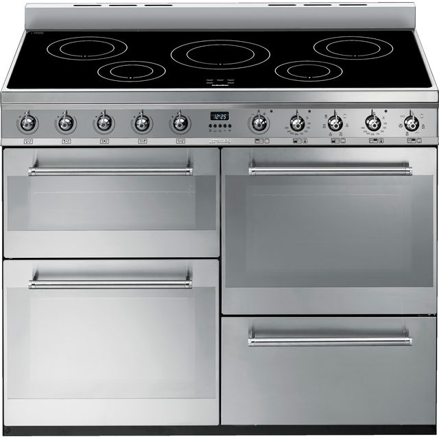 Smeg Symphony SYD4110i 110cm Electric Range Cooker with Induction Hob - Stainless Steel - A/A Rated - SYD4110i_SS - 1