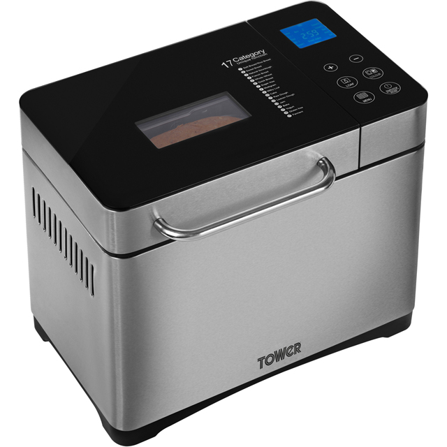 Tower GlutenFree Digital Bread Maker with nut Dispenser T11002 Bread Maker with 17 programmes - Stainless Steel - T11002_SS - 1
