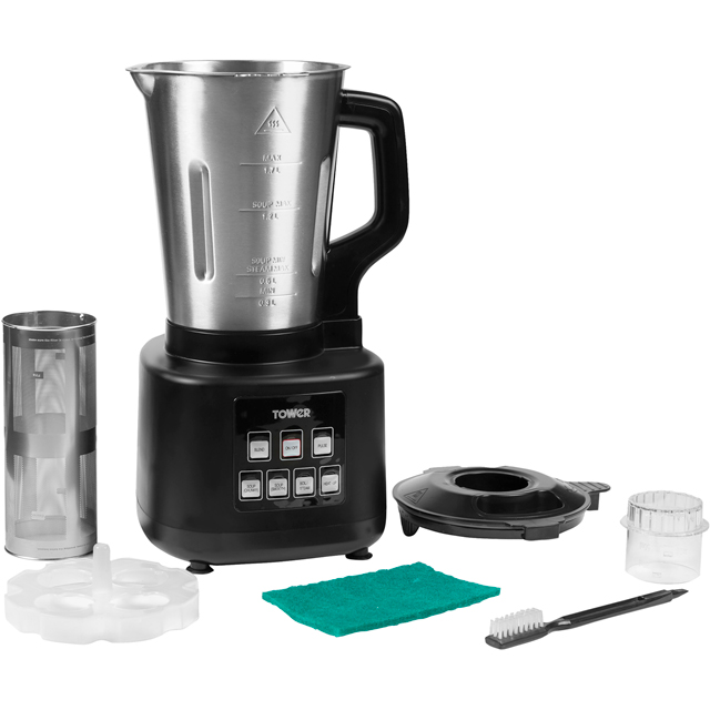 Tower T12026 1.7 Litre Soup Maker - Black - T12026_BK - 1
