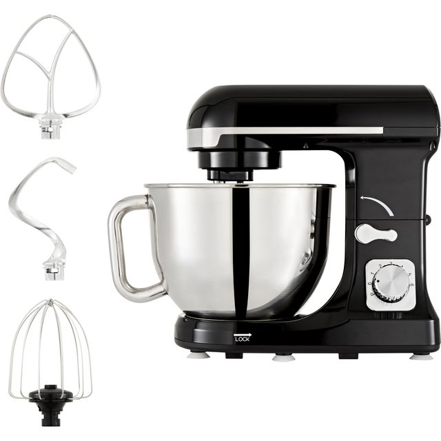 Tower T12033 Stand Mixer with 5 Litre Bowl - Black