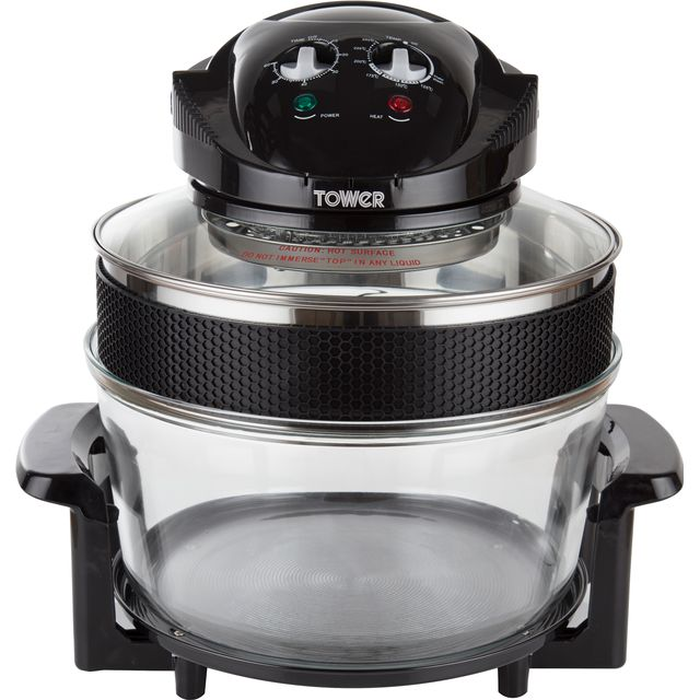 Tower Halogen Low Fat T14001 Fryer - Black - T14001_BK - 1