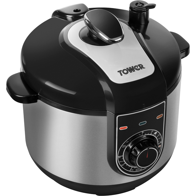 Tower T16004 5 Litre Pressure Cooker - Stainless Steel - T16004_SS - 1