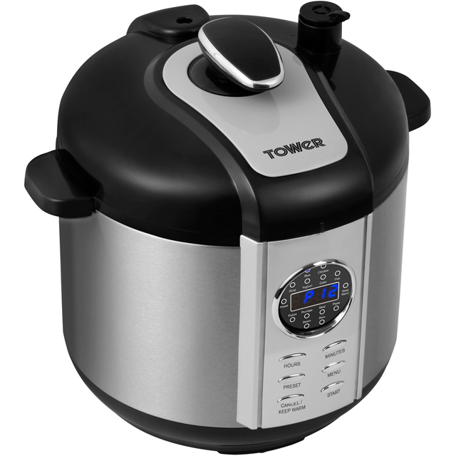 Tower T16005 6 Litre Pressure Cooker - Stainless Steel - T16005_SS - 1