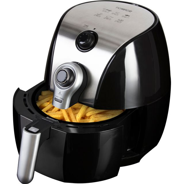 Tower T17022 Fryer - Black - T17022_BK - 1
