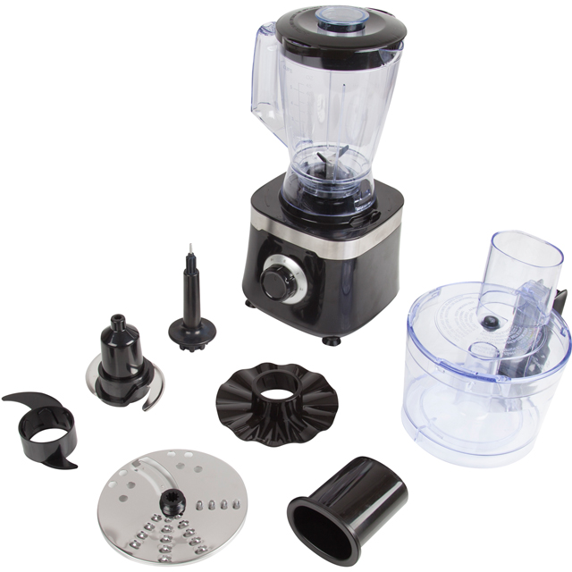 Tower T18004 1.5 Litre Food Processor - Black - T18004_BK - 1
